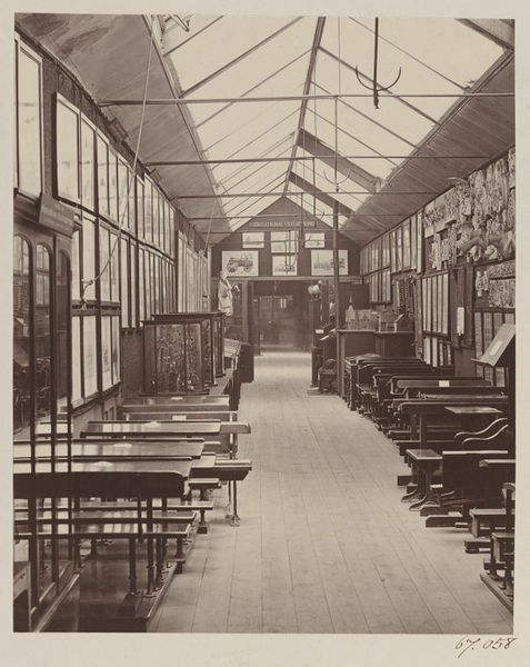 Early photograph of the V&A interior