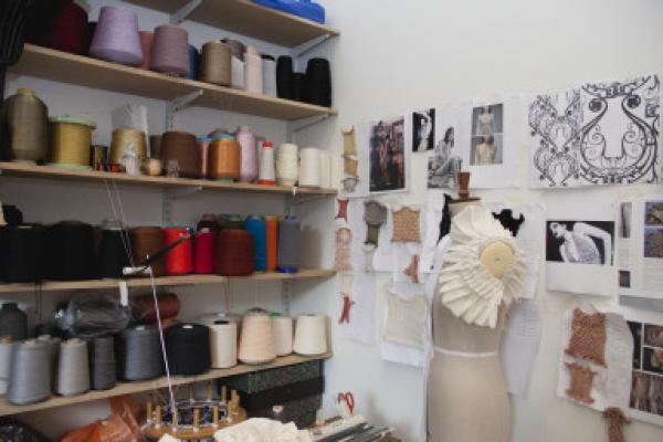 Studio images Fashion Design Residency Sackler Centre for arts