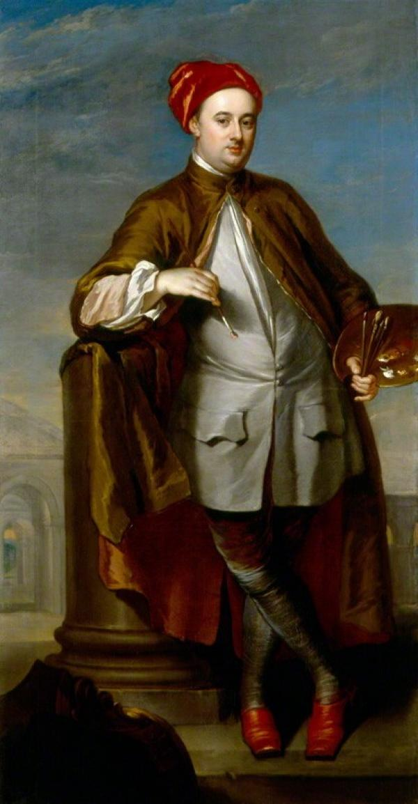 Portrait of William Kent by William Aikman, National Portrait Gallery