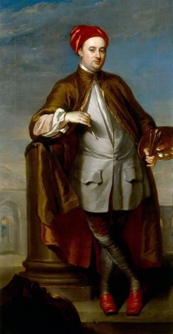 Portrait of William Kent by William Aikman, National Portrait Gallery