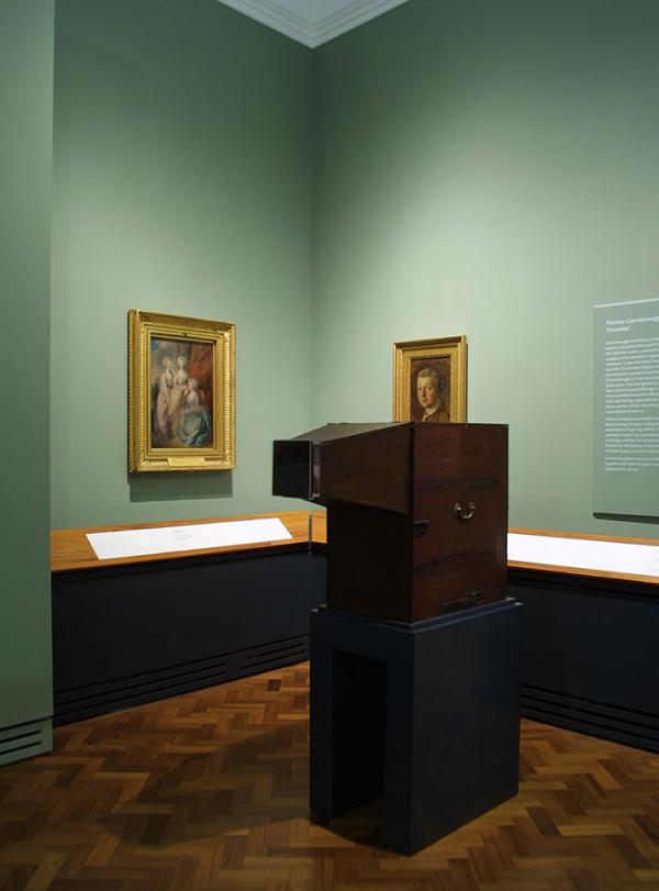 Thomas Gainsborough's showbox on display in Room 88. © Victoria and Albert Museum, London