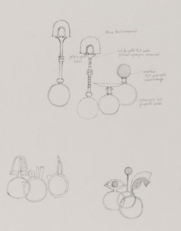 Designs for rings by Wendy Ramshaw. Museum number E.1173-1978