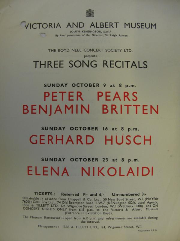 Three Song Recitals flyer