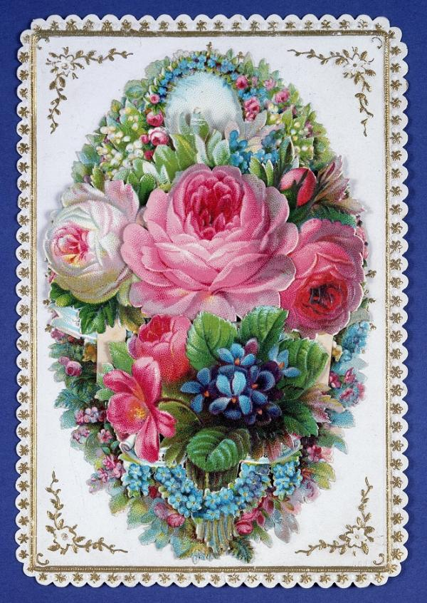 Greeting card from a set of 16 Christmas, Valentines and souvenir cards, ca. 1860. Museum no. E.4824-1960. © Victoria and Albert Museum, London.