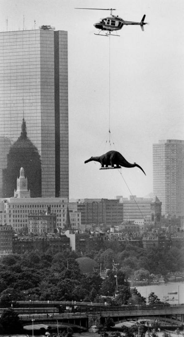 Arthur Pollock. Flying to the Museum of Science in Boston, 1984.