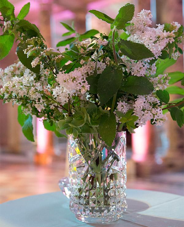 One of Shane Connolly's flower arrangements for the Private View. © Victoria and Albert Museum, London