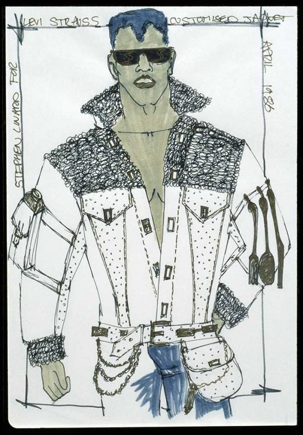 Sketch on paper, Stephen Linard