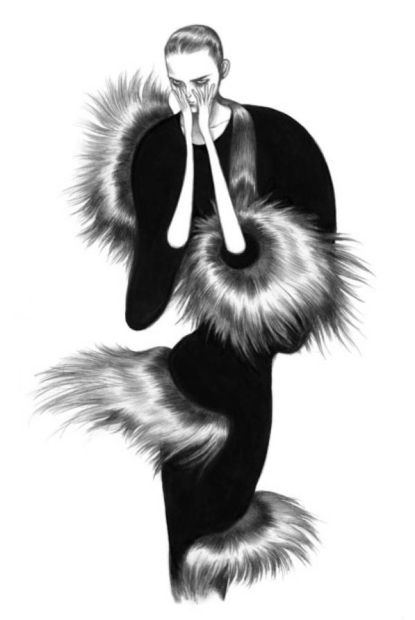 llustration of Fendi by Laura Laine - SHOWstudio x V&A
