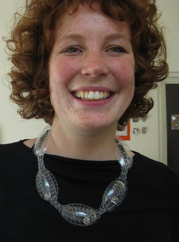 Knit and spoon neckpiece