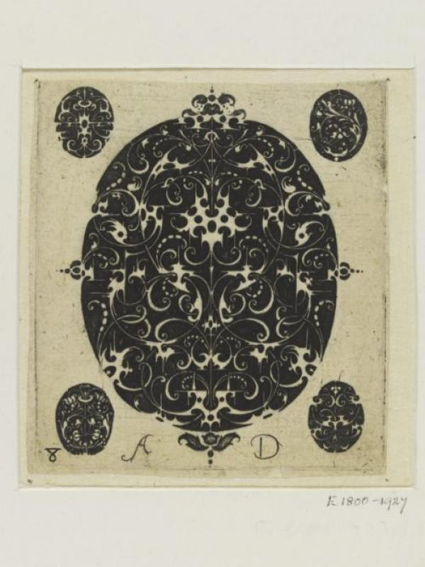 Mongrammist A.D., plate from a suite of designs for goldsmiths in the niello man