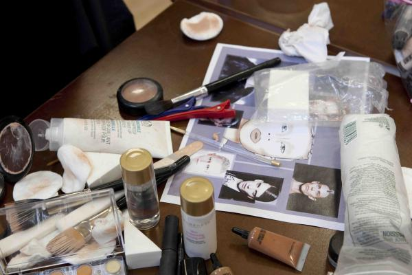 David Bowie make up table