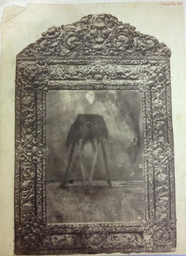 Mirror in embossed brass, c. 1660-70