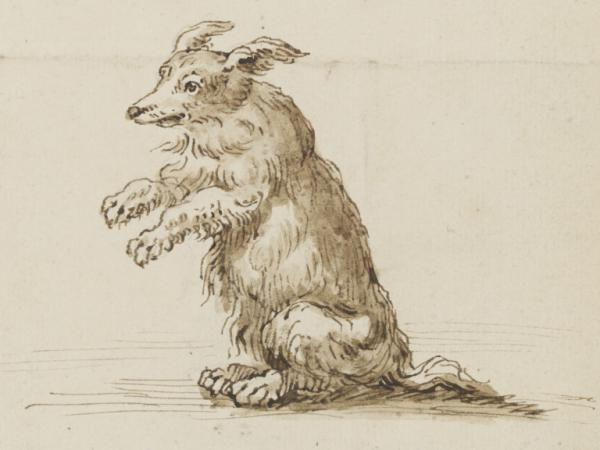 Sketch of a dog by William Kent