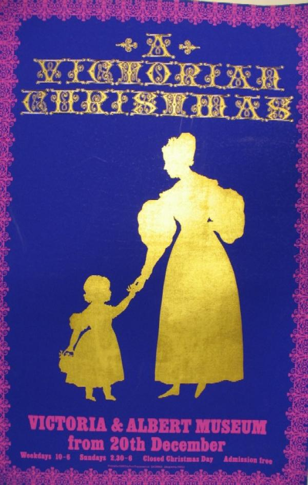 A Victorian Christmas poster.