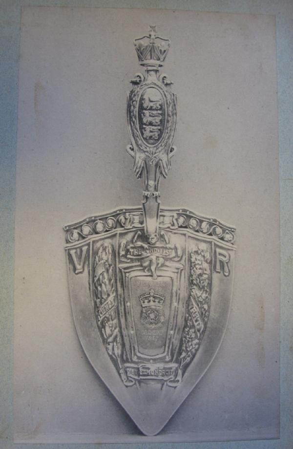 Silver trowel by Nelson and Edith Dawson