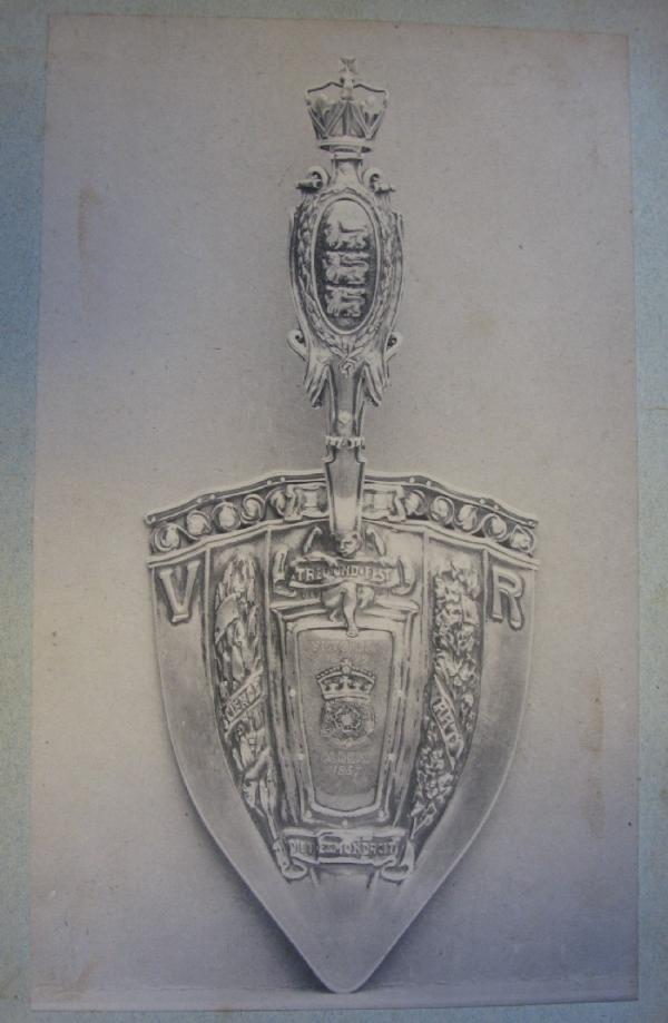 Silver trowel by Nelson and Edith Dawson