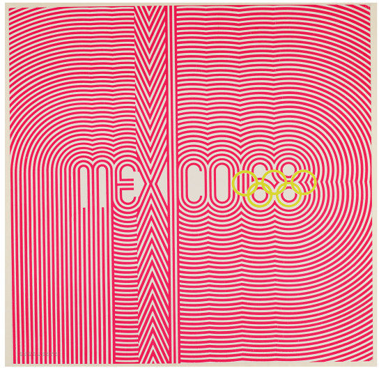 Poster based around logotype 'mexico 68'