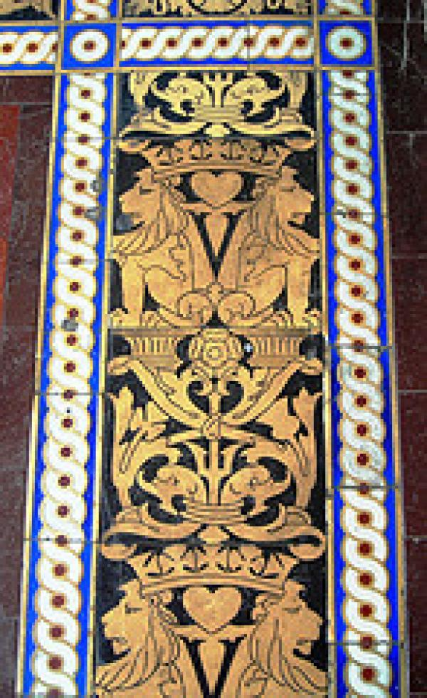 V&A Heraldic interior tilework
