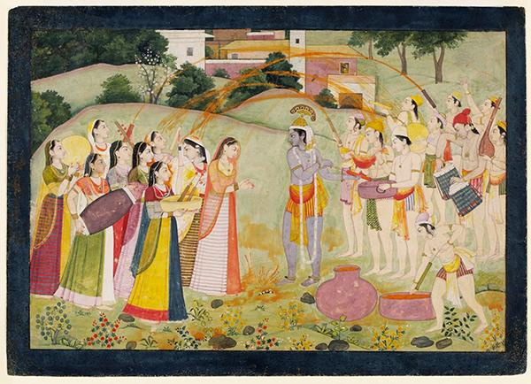 Krishna and Radha, painting, unknown artist, 1775 - 1780. Museum no. IS.8-1949. © Victoria and Albert Museum, London.