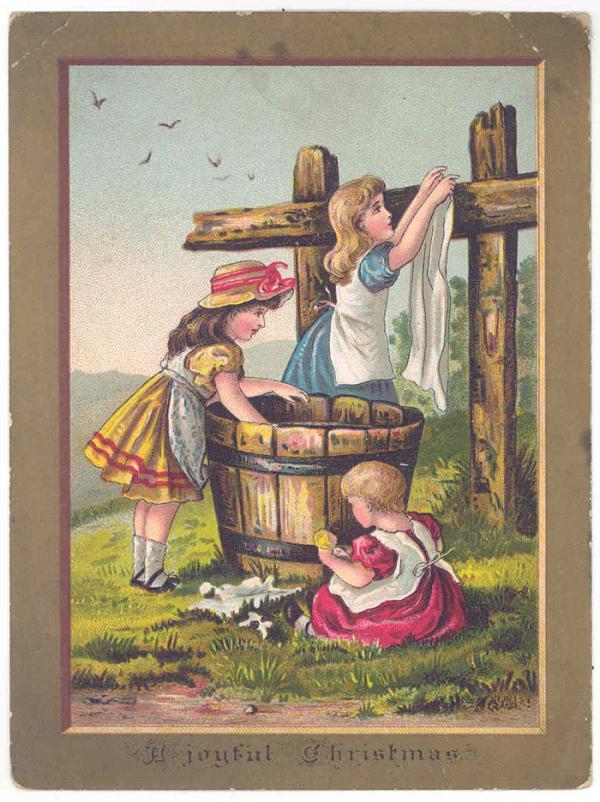 Christmas card, 1885. Museum no. B.426-1993. © Victoria and Albert Museum, London.