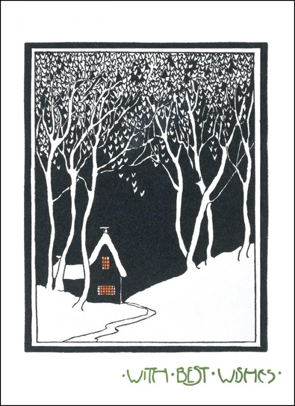 V&A Christmas Card - House in the Snow