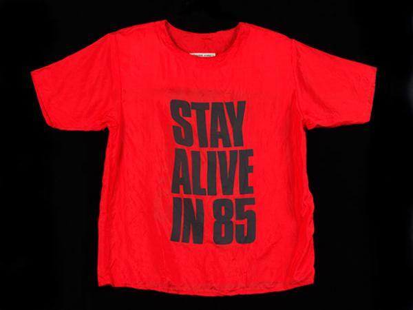 T-Shirt, Katherine Hamnett, 1984. Museum no. T.239-1992