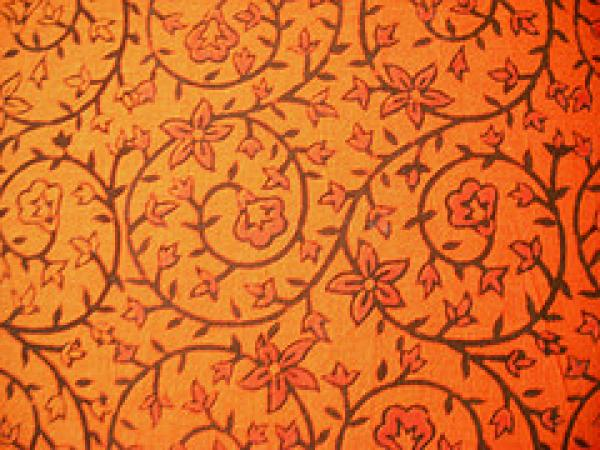 Sample of blockprinted pattern