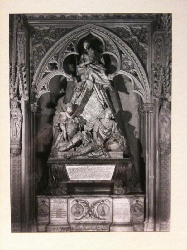 An historic photograph of Kent's monument to Stanhope in Westminster Abbey