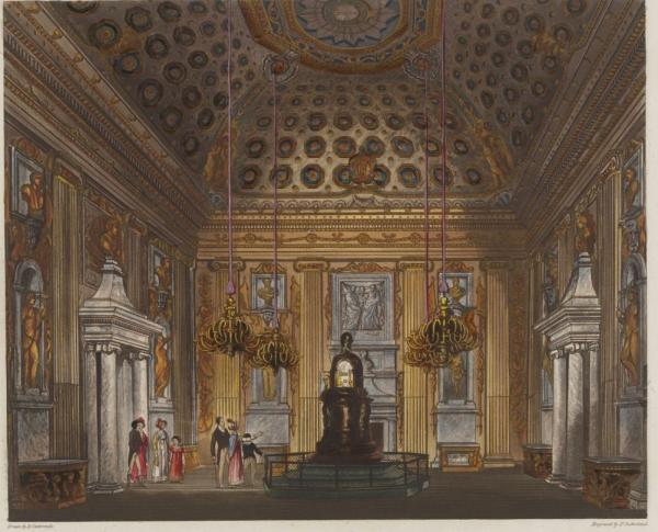 The Cupola Room, Kensington Palace, after a watercolour by Richard Cattermole
