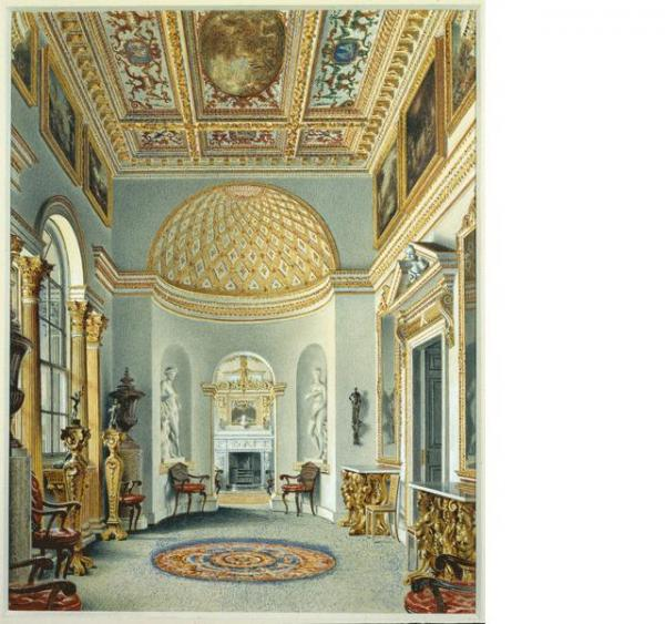 The Gallery at Chiswick. William Henry Hunt. The Gallery, Chiswick House, 1828. Watercolor. © Devonshire Collection, Chatsworth.