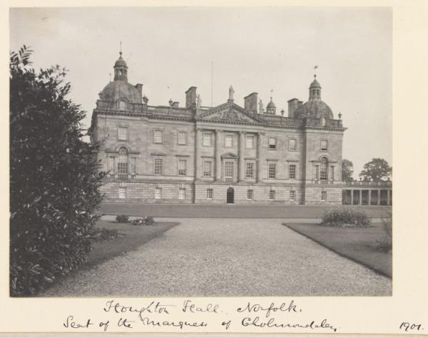 Houghton Hall, seen in a photograph by Benjamin Stone, 1901