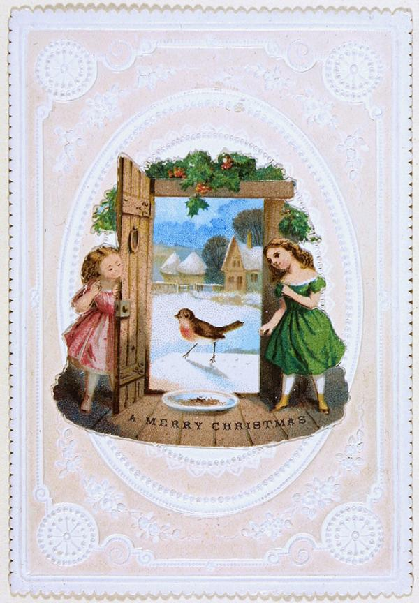 Christmas card, unknown artist, about 1860 - 1880. Musum no. E.1974-1953. © Victoria and Albert Museum, London.