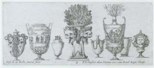 Plate from the Raccolta di vasi diversi, published in France, 1646