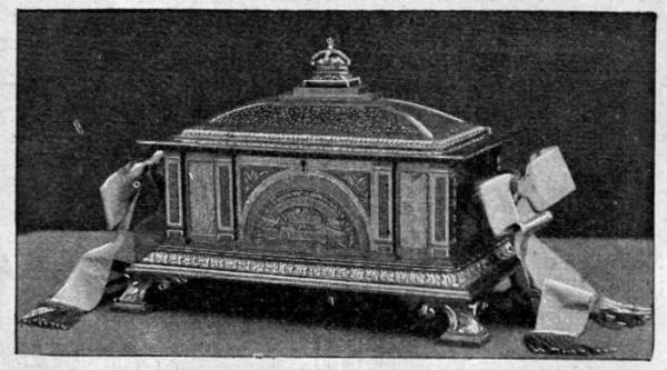 Casket designed by Sir George Hayter Chubb