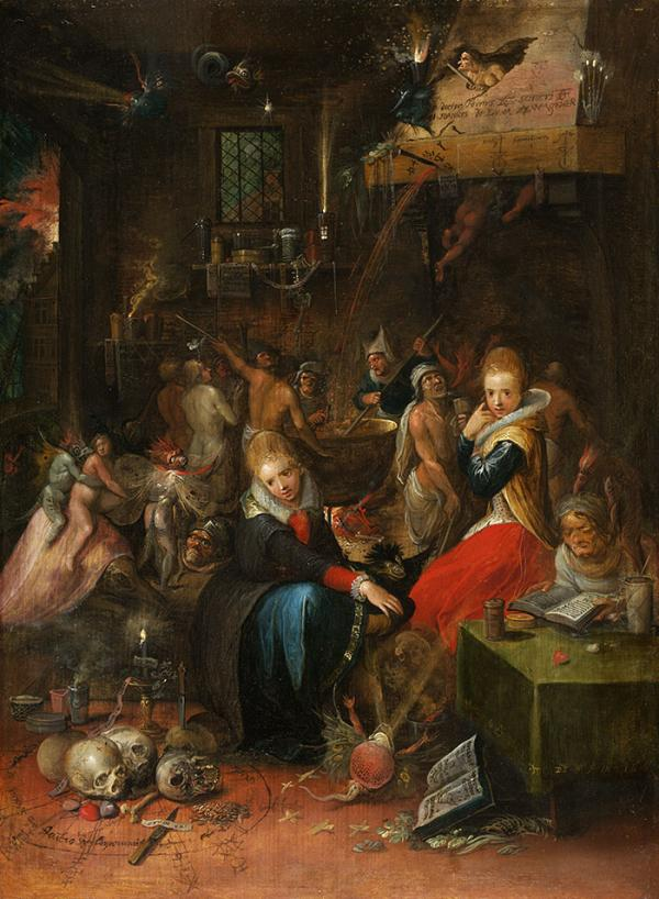 Witches' Sabbath, oil painting, Frans Francken, 1606. Museum no. DYCE.3. © Victoria and Albert Museum, London.