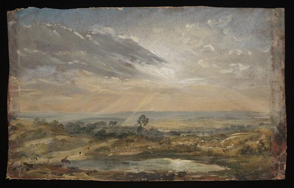 Branch Hill Pond, Hampstead, oil on canvas by John Constable, about.1821-22. Museum no. 125-1888. © Victoria and Albert Musuem, London