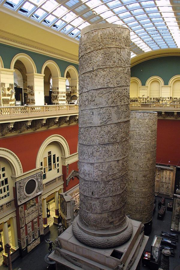 Trajan's Column in the V&A Cast Courts. © Victoria and Albert Museum, London.