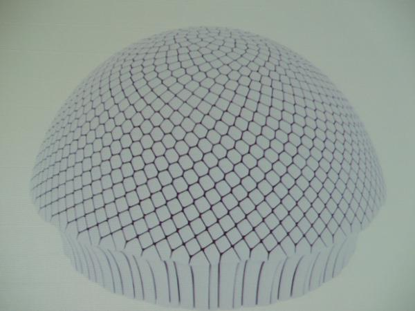 3D-printed fibonacci pattern array of digitally controlllable elements in a lens for a toy eye