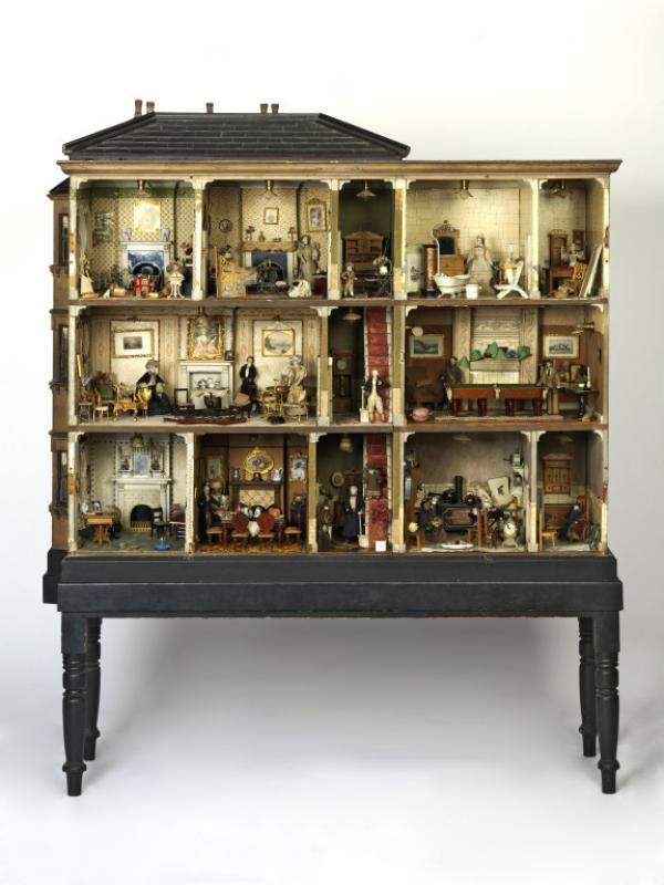 Dolls' House known as Miss Miles House made in England in 1890