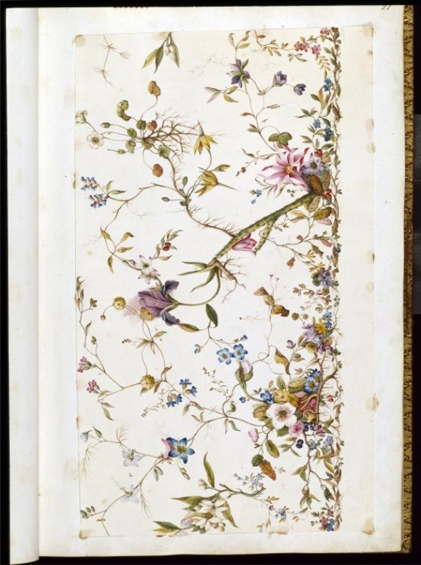 Design for a textile by William Kilburn, c.1790