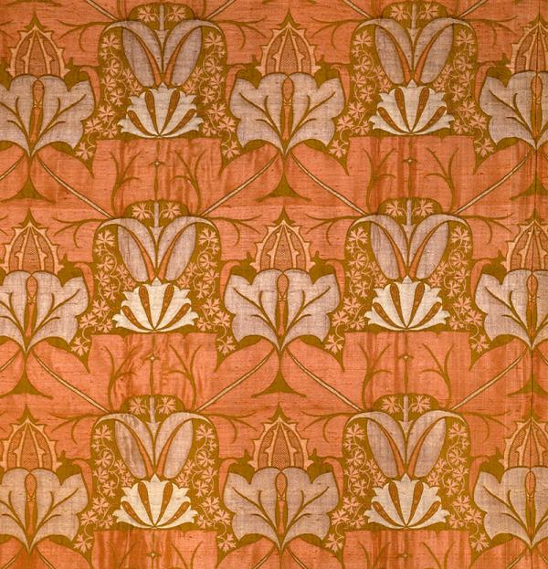 'The Wykehamist' furnishing fabric, by Charles Voysey for Alexander Morton & Co., ca. 1897. © Victoria and Albert Museum, London