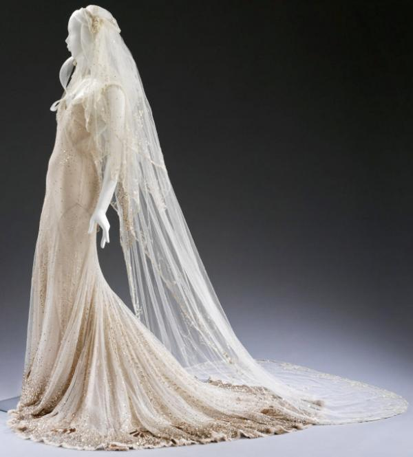 Wedding Dress and veil by John Galliano, worn by Kate Moss, 2011. © Victoria and Albert Museum, London
