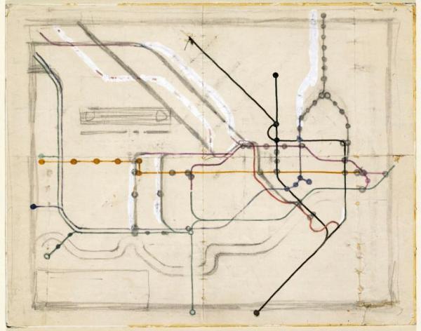 London Underground Map, Henry Beck, 1931-1933