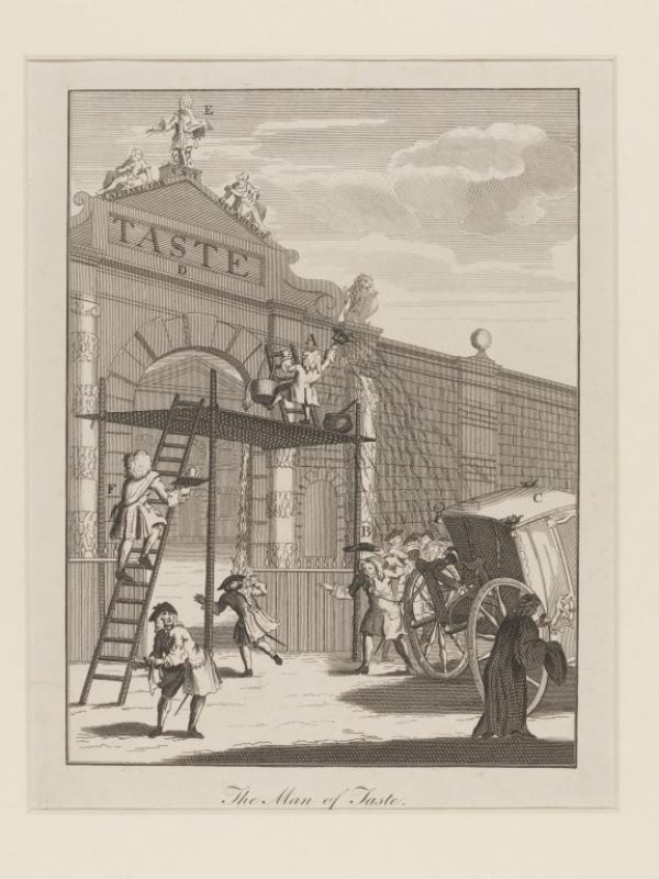Anonymous print, 'Taste, or Burlington-gate', etching, 1732