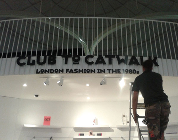 Club to Catwalk London Fashion in the 1980s! installation