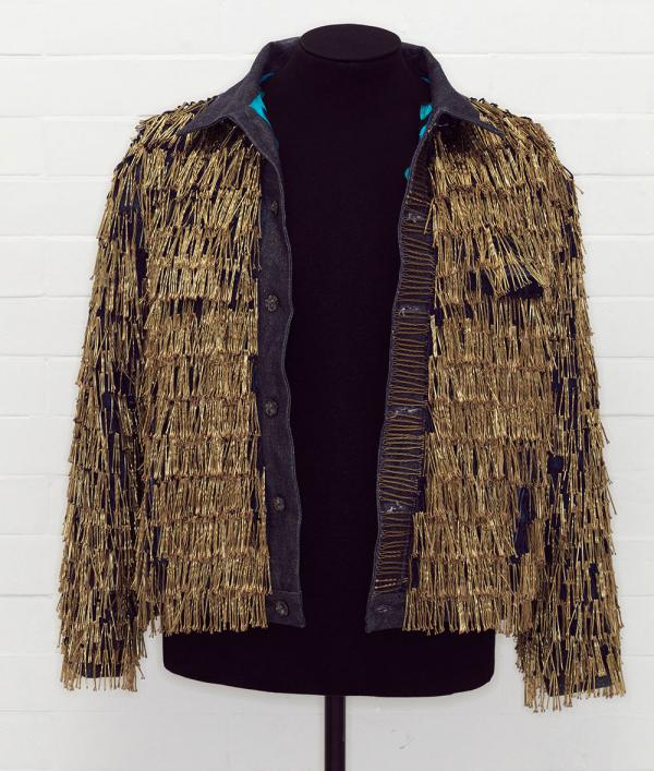 Denim jacket 'BLITZ' by Levi Strauss & Co., and customised by Leigh Bowery