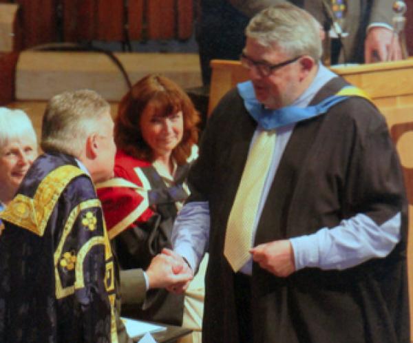 George Fletcher's graduation ceremony at the Barbican Centre
