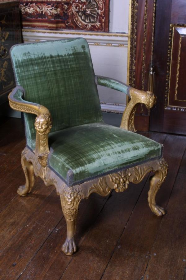Armchair for Houghton Hall, 1730s, attributed to William Kent. Museum number W.49-2002