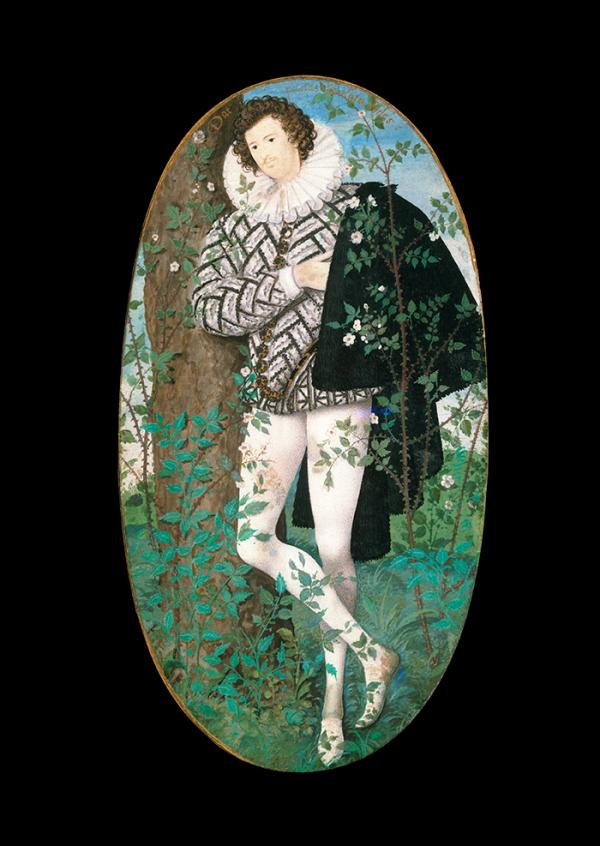 Young Man Among Roses, Nicholas Hillard, 1587. Museum no. P.163-1910. © Victoria and Albert Museum, London.