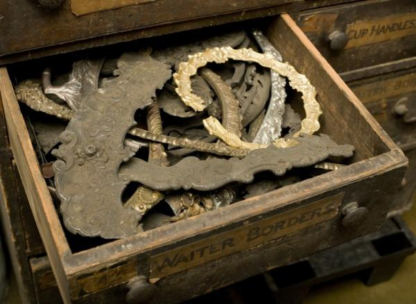 Drawer in AAD collection showing casting patterns